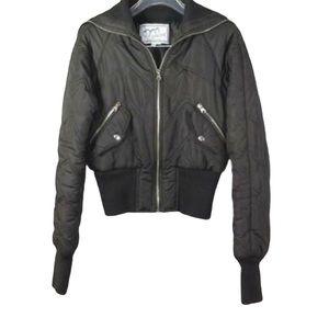 ASHLEY Waist Cut Rib Jacket Ladies Size Medium